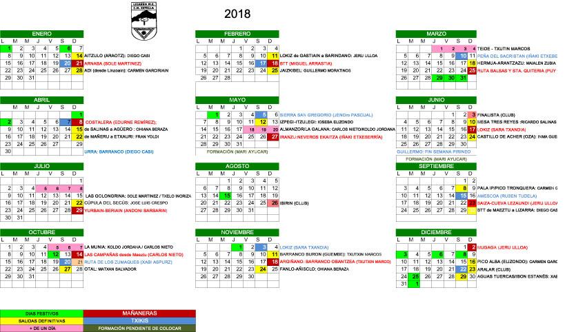 SALIDAS 2018 -1