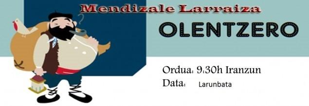 Olentzero  En el refugio de Larraiza